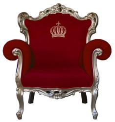 Pompöös by Casa Padrino luxury baroque armchair red / gold - Pompöös baroque armchair designed by Harald Glööckler