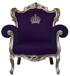 Pompöös by Casa Padrino luxury baroque armchair purple / gold - Pompöös baroque armchair designed by Harald Glööckler