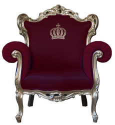 Pompöös by Casa Padrino luxury baroque armchair burgundy / gold - Pompöös baroque armchair designed by Harald Glööckler