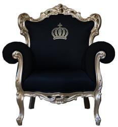 Pompöös by Casa Padrino luxury baroque armchair black / gold - Pompöös baroque armchair designed by Harald Glööckler