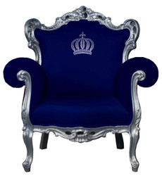 Pompöös by Casa Padrino luxury baroque armchair blue / silver - Pompöös baroque armchair designed by Harald Glööckler