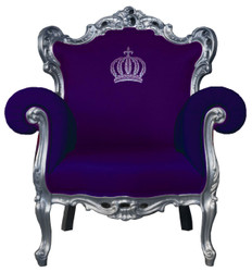 Pompöös by Casa Padrino luxury baroque armchair purple / silver - Pompöös baroque armchair designed by Harald Glööckler