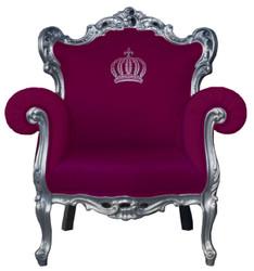 Pompöös by Casa Padrino luxury baroque armchair pink / silver - Pompöös baroque armchair designed by Harald Glööckler
