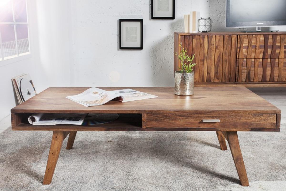 Tavolini Da Salotto In Legno Massiccio : Tavolino da salotto in legno massello di design casa padrino