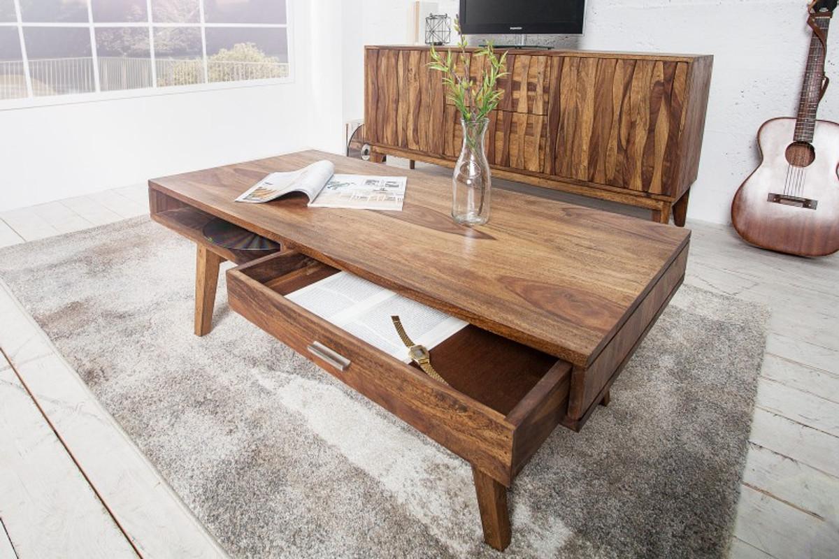 Tavolini In Legno Da Salotto : Tavolino da salotto in legno massello di design casa padrino nature