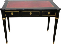 Casa Padrino Baroque Desk Black / Gold / Bordeaux Secretary Luxury Furniture