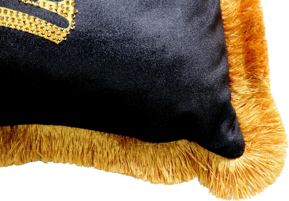 harald gl ckler luxus deko kissen pomp s by casa padrino schwarz gold krone mit strass. Black Bedroom Furniture Sets. Home Design Ideas