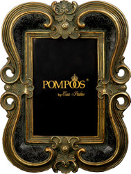 Pompöös by Casa Padrino Baroque Picture Frame Black / Gold by Harald Glööckler 25 x 18 cm - Antique Style Photo Frame