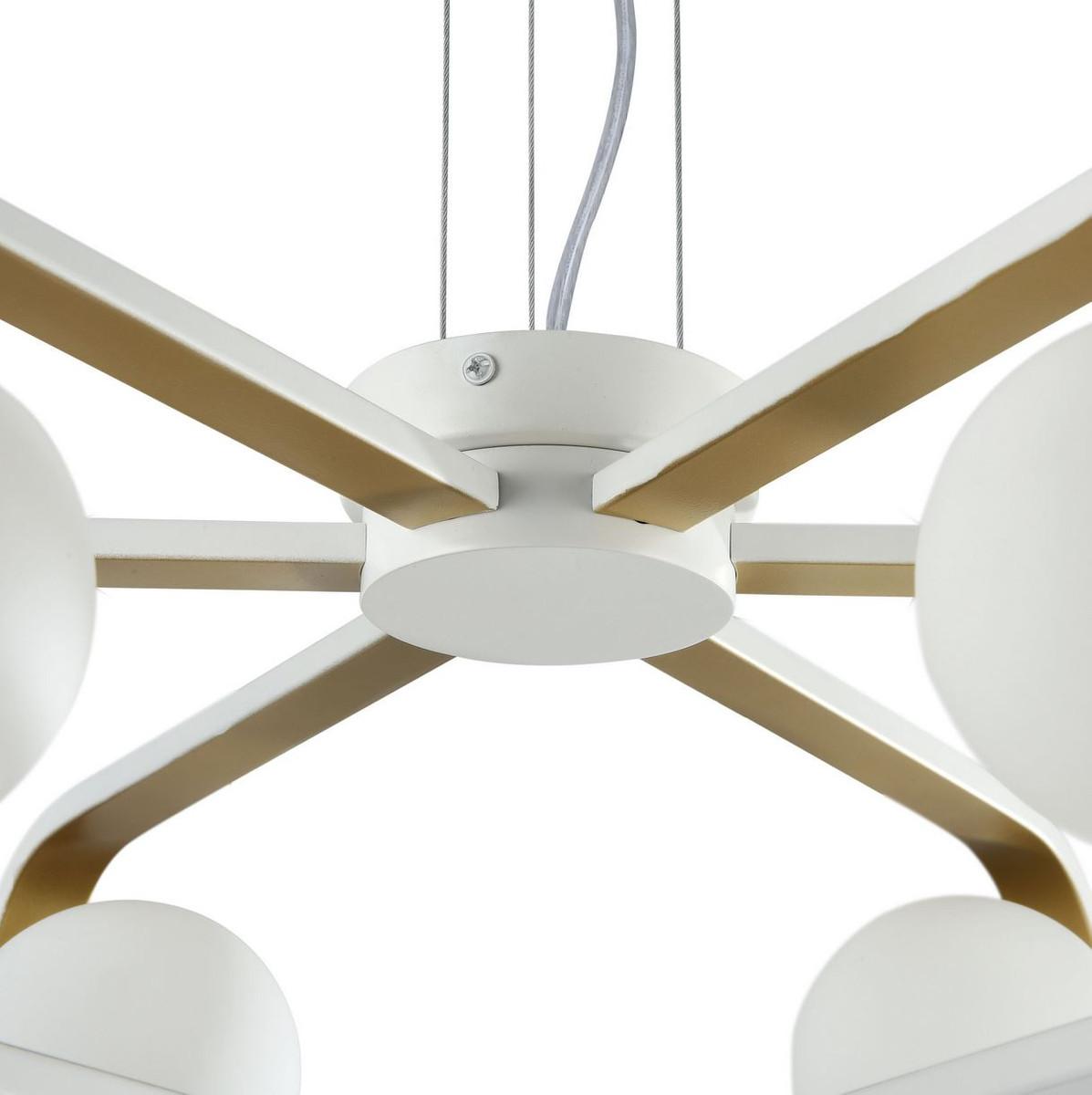 Casa Padrino Luxus Hängeleuchte Weiß / Gold Ø 65 x H. 20 cm - Luxus Kollektion 4