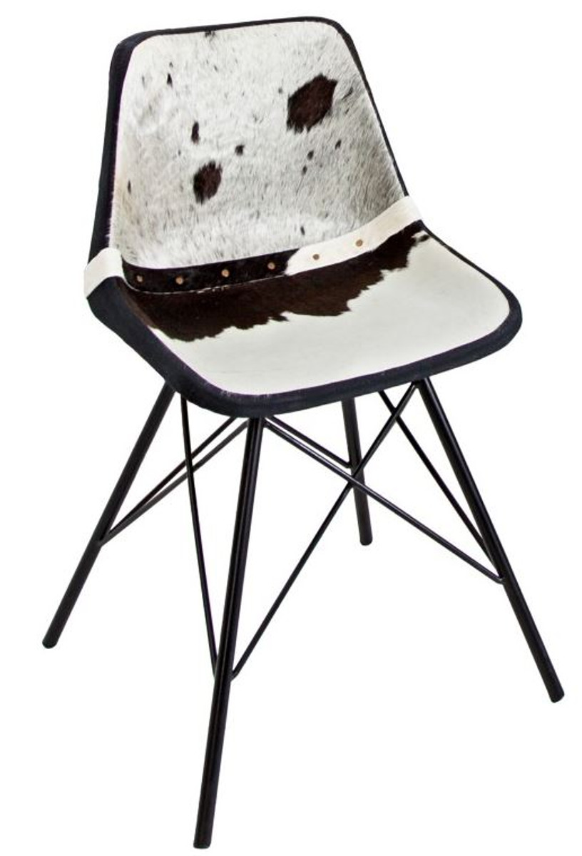 Black And White Cowhide Chair
