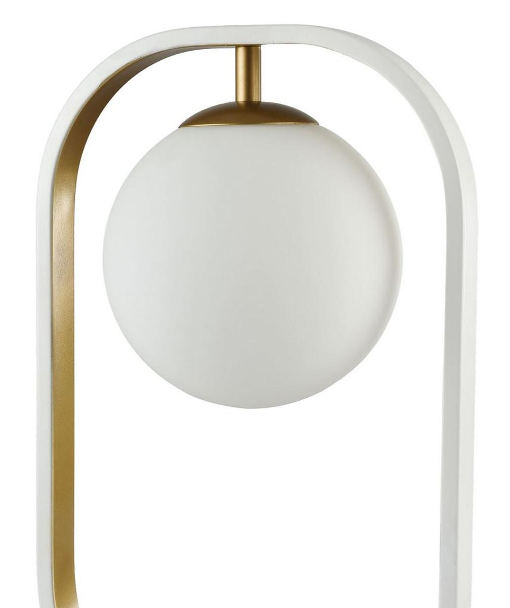 casa padrino luxus tischleuchte wei gold 23 x h 39 5 cm wohnzimmer tischlampe leuchten. Black Bedroom Furniture Sets. Home Design Ideas