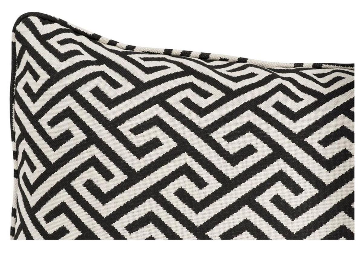 Favorit Casa Padrino Luxus Kissen Schwarz / Weiß 40 x 60 cm - Wohnzimmer MG38