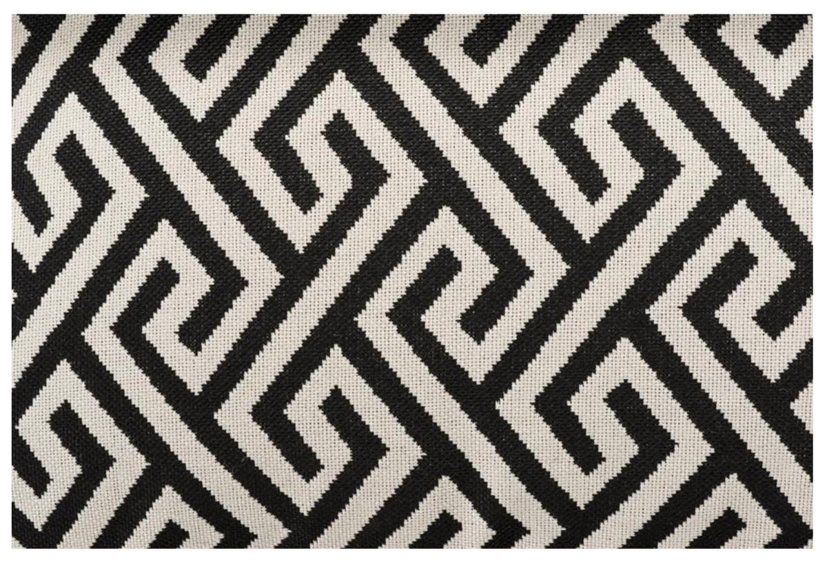 Casa Padrino coussin de luxe noir / blanc 40 x 60 cm - Salon Déco