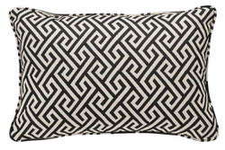 Casa Padrino Luxury Pillow Black / White 40 x 60 cm - Living Room Deco