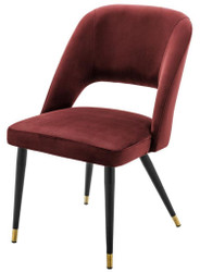 Casa Padrino luxury dining chair burgundy / black 52 x 58 x H. 85 cm - Luxury Dining Room Furniture