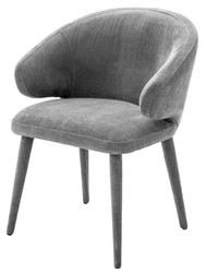 Casa Padrino Designer Esszimmerstuhl Grau 62 x 55 x H. 79 cm - Luxus Möbel