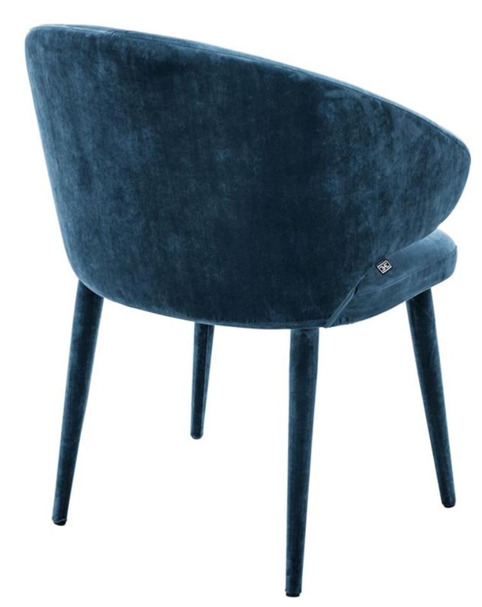 Casa padrino designer esszimmerstuhl blau 62 x 55 x h 79 for Designer esszimmerstuhl