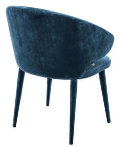 Casa Padrino Designer Esszimmerstuhl Blau 62 x 55 x H. 79 cm - Luxus Möbel – Bild 2