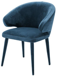 Casa Padrino designer dining chair blue 62 x 55 x H. 79 cm - Luxury Furniture
