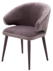 Casa Padrino designer dining chair taupe 62 x 55 x H. 79 cm - Luxury Furniture