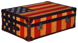 Casa Padrino Luxury Chest Stars & Stripes 90 x 60 x H. 30 cm - Living Room Coffee Table in Suitcase Look