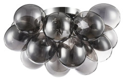 Casa Padrino ceiling lamp black / silver 38 x 38 x H. 25 cm - Living Room Ceiling Lamp