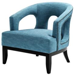 Casa Padrino Living Room Armchair Turquoise / Black 80 x 76 x H. 79 cm - Luxury Living Room Furniture