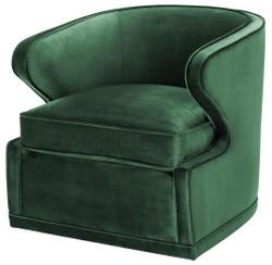 Casa Padrino Wohnzimmer Sessel / Drehsessel Grün 75 x 80 x H. 73 cm - Luxus Wohnzimmermöbel