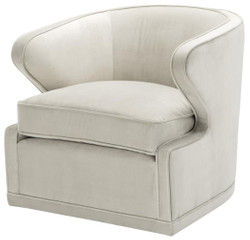 Casa Padrino living room armchair / swivel armchair light gray 75 x 80 x H. 73 cm - Luxury Living Room Furniture