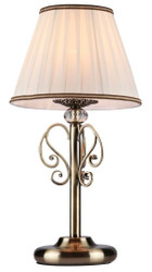 Casa Padrino baroque table lamp cream-gold Ø 22 x H. 43 cm - Baroque Style Furniture