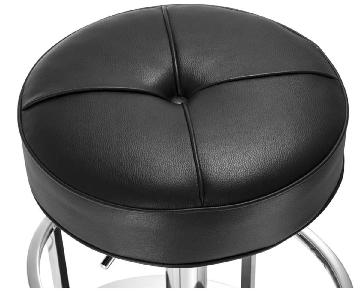 Sgabello H 60 : Casa padrino luxury bar stool silver black 49 x 40.5 x h. 60 80 cm