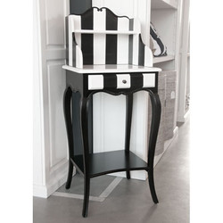 Casa Padrino designer telephone table black / white 59 cm x 39 cm xh. 104 cm