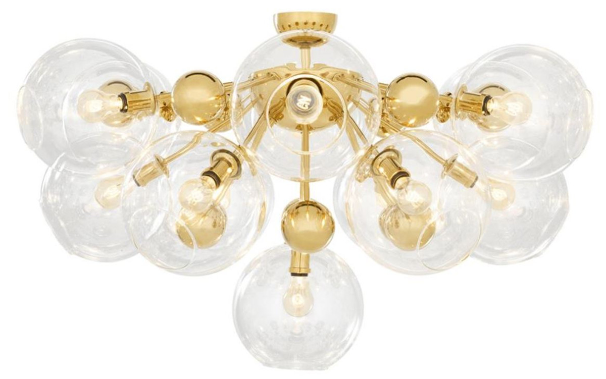 Casa Padrino Luxus Deckenleuchte Gold ø 90 X H 57 Cm Luxus