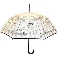 Guy De Jean Designer Luxus Regenschirm Love in Paris Creme - Stockschirm - Elegant und Extravagant - Made in Paris
