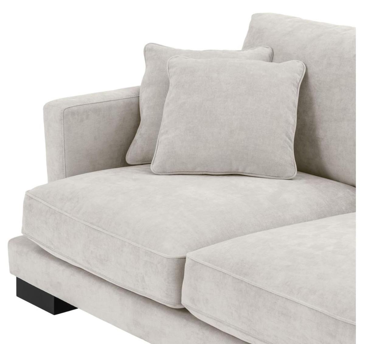 casa padrino luxus wohnzimmer sofa sandfarben schwarz. Black Bedroom Furniture Sets. Home Design Ideas