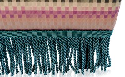 Casa Padrino Luxus Fußhocker Mehrfarbig 76 x 54 x H. 40 cm - Wohnzimmer Möbel – Bild 5
