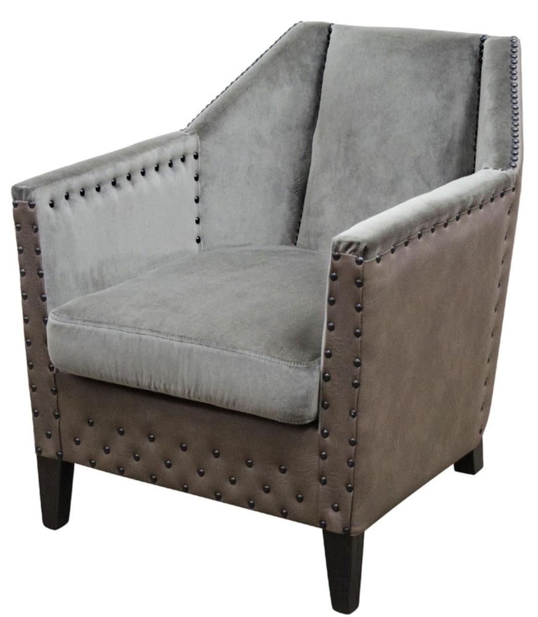 casa padrino luxus sessel grau braun schwarz 61 x 71 x h 69 cm hotel restaurant m bel. Black Bedroom Furniture Sets. Home Design Ideas