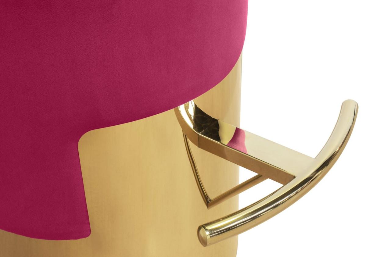 Casa padrino sgabello da bar di lusso colori del lampone oro Ø