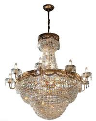 Casa Padrino Barock Kristall Kronleuchter Gold Ø 80 x H. 81 cm - Lüster im Barockstil