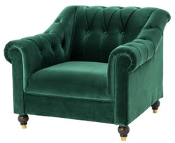 Casa Padrino Luxury Chesterfield Armchair Green 99 x 90 x H. 81.5 cm - Limited Edition
