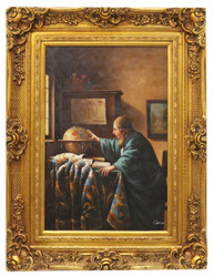 Casa Padrino baroque style oil painting the discoverer gold splendor frame 100 x H. 130 cm - Baroque Furniture