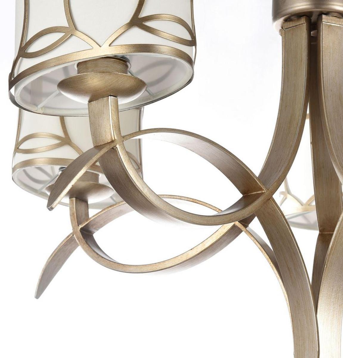 Casa Padrino Jugendstil Kronleuchter 5-Flammig Gold Ø 60,5 x H. 50,1 cm - Lüster im Jugendstil  2