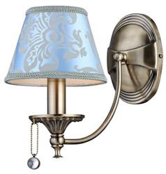 Casa Padrino Barockstil Wandleuchte Bronze / Blau 16 x 29 x H. 26 cm - Barock Wandlampe
