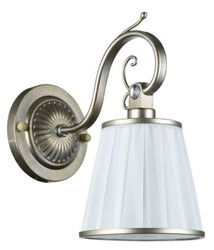 Casa Padrino Art Nouveau Wall Lamp Silver Gold / White 14 x 24 x H. 27 cm - Art Deco Furniture