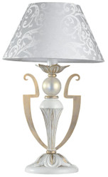 Casa Padrino Baroque Style Table Lamp White / Gold Ø 28 x H. 46 cm - Furniture in Baroque & Art Nouveau Style