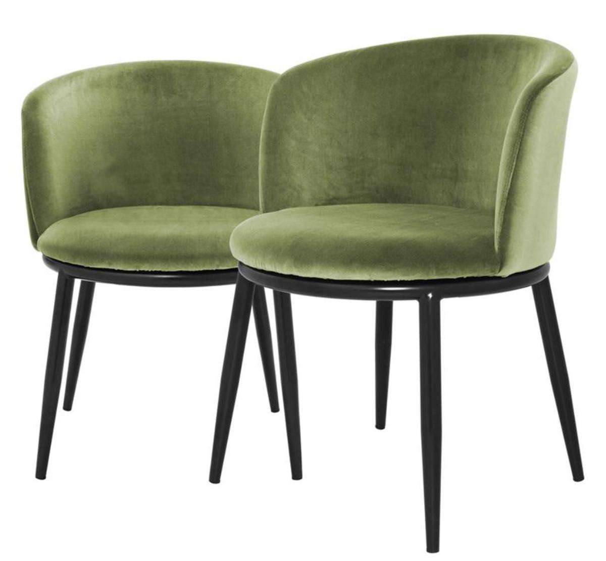Upscale Dining Room Furniture: Casa Padrino Luxury Dining Chair Set Light Green / Black