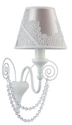 Casa Padrino Art Nouveau Wall Lamp White / Pink 15 x 20 x H. 31 cm - Baroque & Art Nouveau Furniture