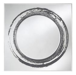 Casa Padrino Luxury Mirror Black 107 x H. 107 cm - Designer Wall Mirror
