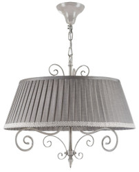 Casa Padrino Baroque Chandelier Antique Beige / Gray Ø 50 x H 44 cm - Furniture in Baroque and Art Nouveau Style