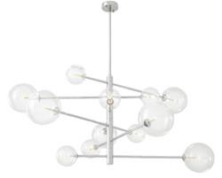Casa Padrino Luxury Halogen Chandelier Silver Ø 130 x H. 67 cm - Luxury Quality